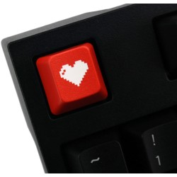 KeyPop Red 8-Bit Heart Keycap